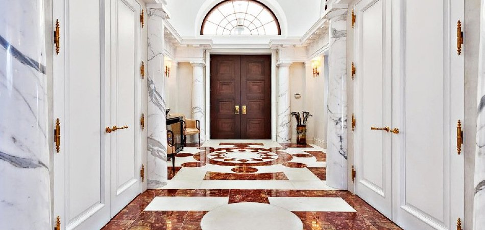 Marble walls and floors